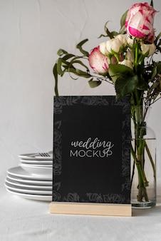 Maquette d'affichage de table de mariage