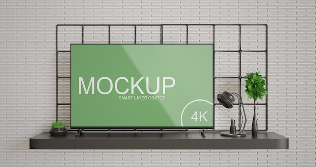 Maquette d'affichage de télévision simple et minimaliste