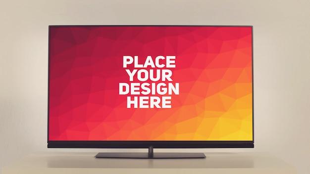 Maquette d'affichage de télévision