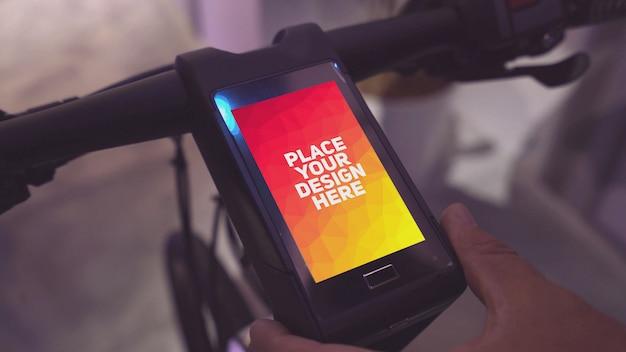Maquette d'affichage de vélo intelligent