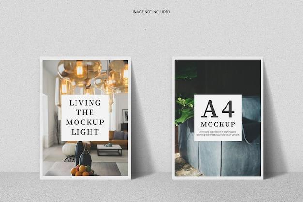 Maquette d'affiche a4 minimaliste