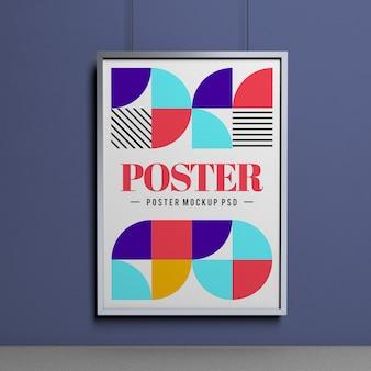 Maquette d'affiche au format a3