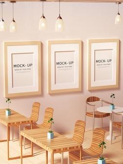 Maquette d'affiche de café