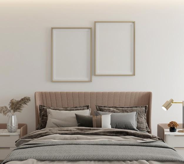 Maquette d'affiche dans un design de chambre minimaliste moderne