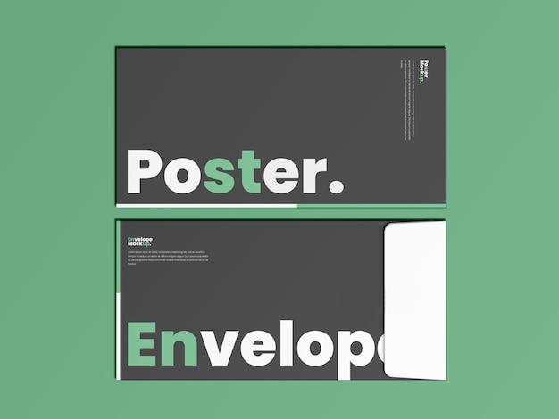 Maquette d'affiche et d'enveloppe