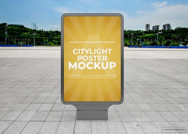 Maquette d'affiche extérieure citylight