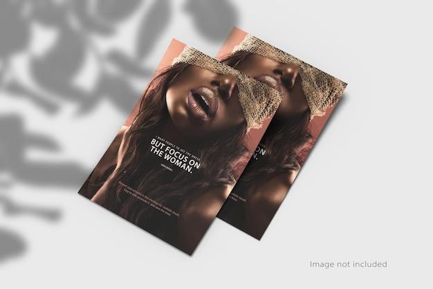 Maquette d'affiche flyer a4 avec ombre