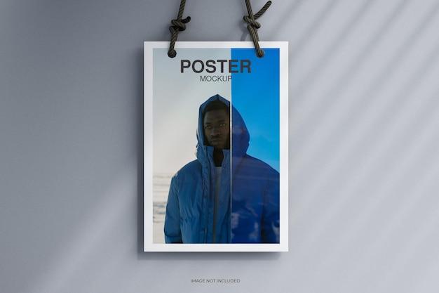 Maquette d'affiche de flyer minimale