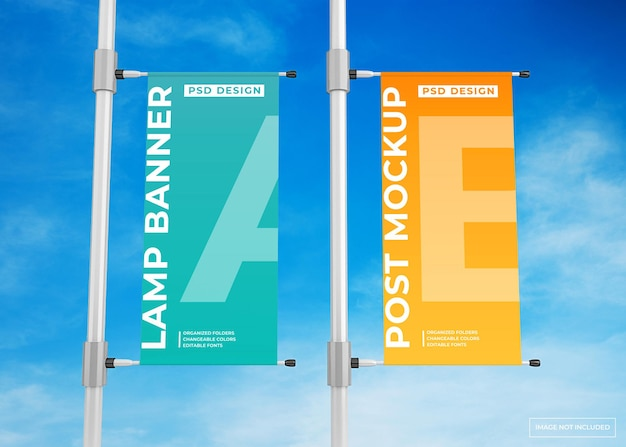 Maquette d'affiche publicitaire de bannière de lampe suspendue