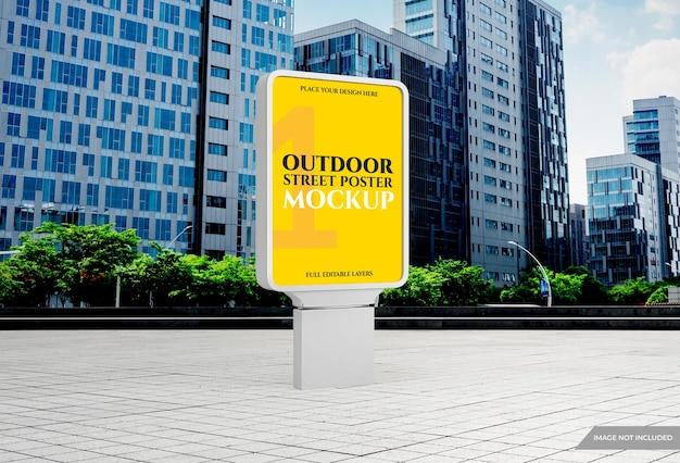 Maquette d'affiche publicitaire extérieure de la ville