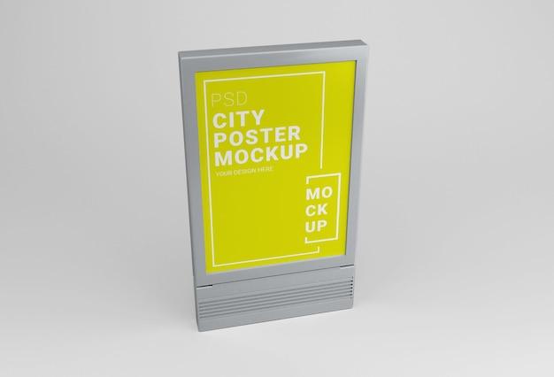Maquette D'affiche De Ville En Plein Air PSD Premium