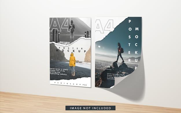 Maquette d'affiches a4