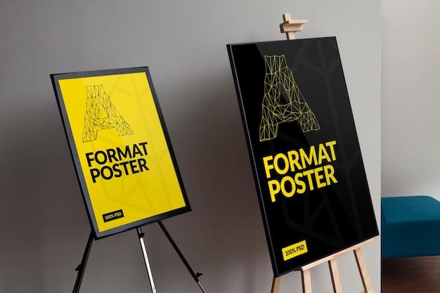Maquette d'affiches de cadre
