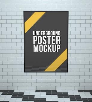 Maquette d'affiches souterraine