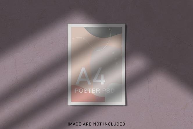 Maquette d'affiches avec superposition d'ombres