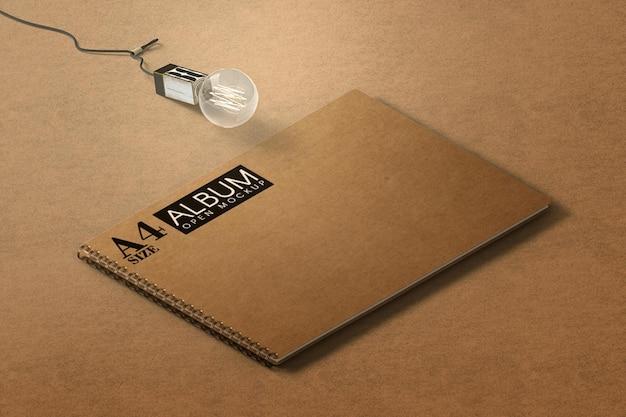 Maquette d'album de livre isométrique