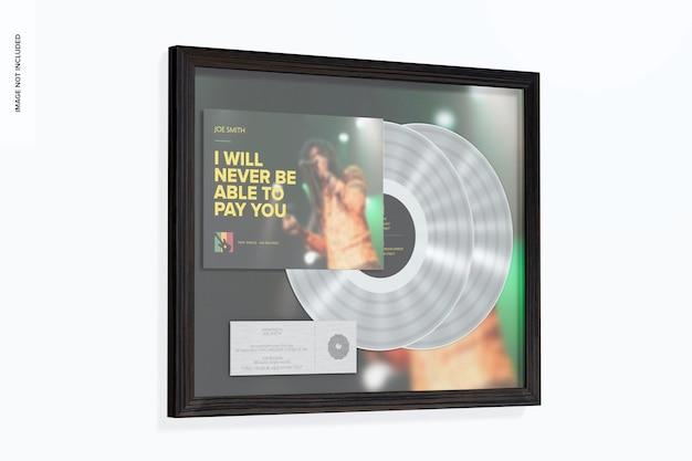 Maquette d'album multi-platine, sur le mur