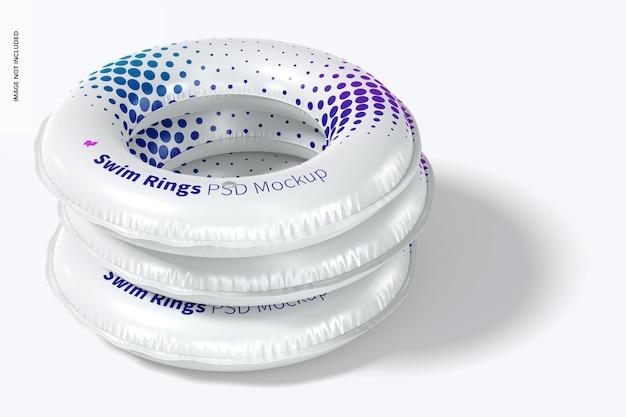 Maquette d'anneaux de bain, ensemble empilé