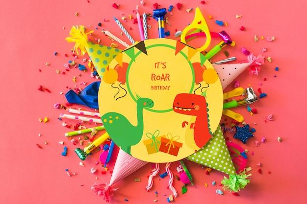 Maquette d'anniversaire créative