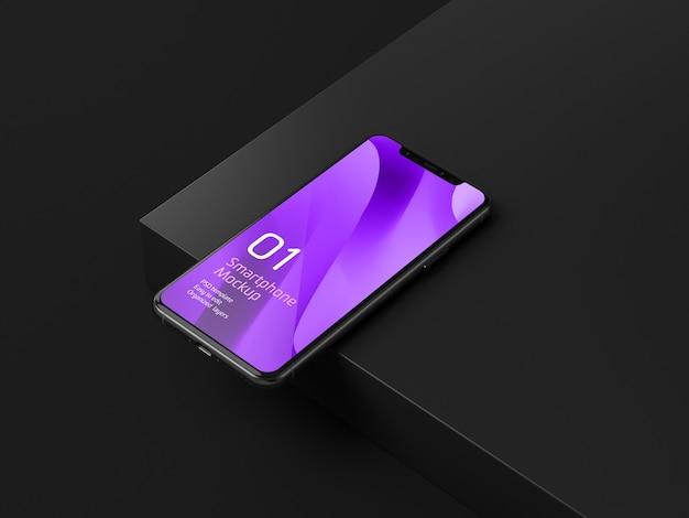 Maquette d'appareil mobile sombre