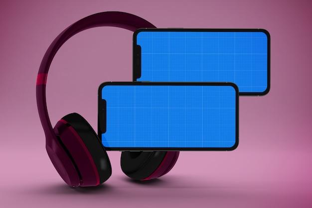 Maquette de l'application de musique mobile