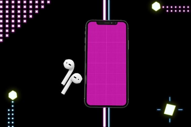 Maquette de l'application de musique néon