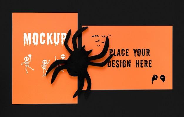 Maquette d'araignée effrayante vue de dessus