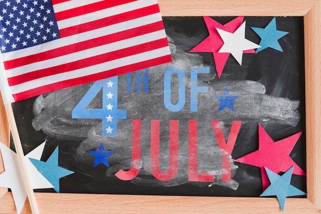 Maquette en ardoise pour la fête de l'indépendance des états-unis