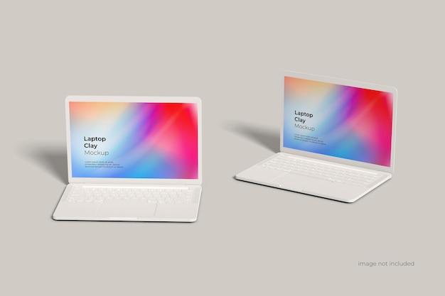 Maquette d'argile pour ordinateur portable