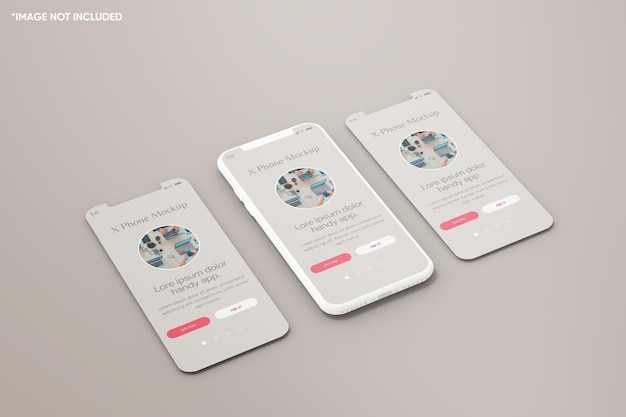Maquette d'argile pour smartphone minimaliste