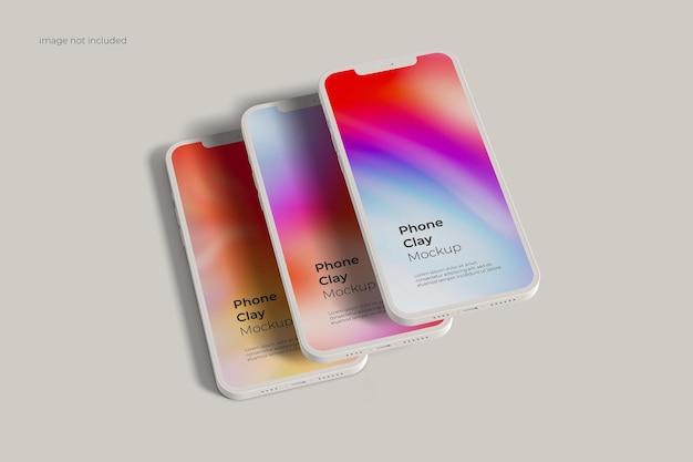 Maquette d'argile pour smartphone