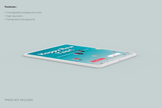 Maquette d'argile de tablette en plein écran