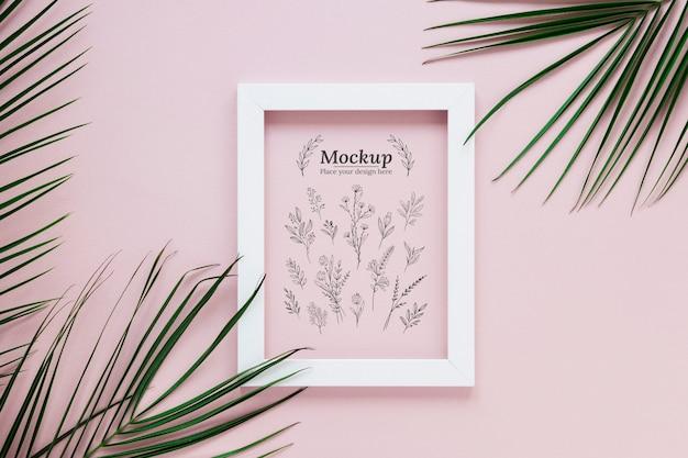 Maquette d'arrangement de plantes avec cadre