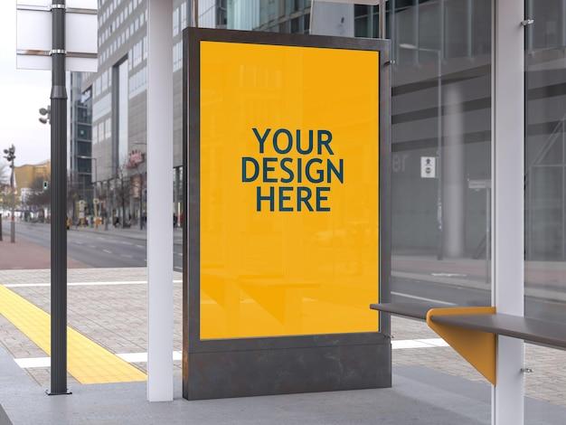 Maquette d'arrêt de bus