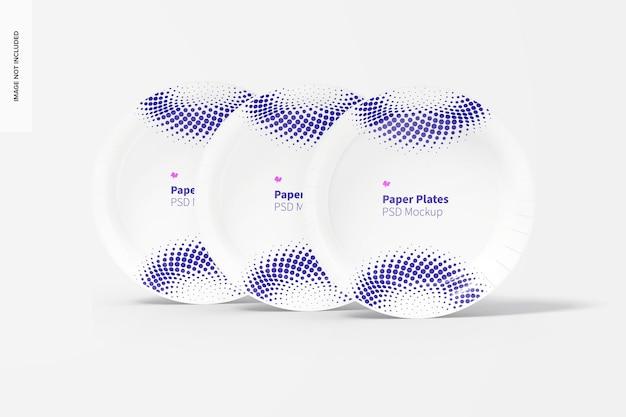 Maquette d'assiettes en papier, vue de face