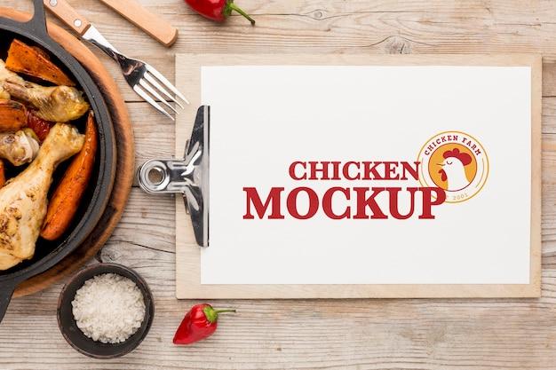 Maquette d'assortiment de poulet