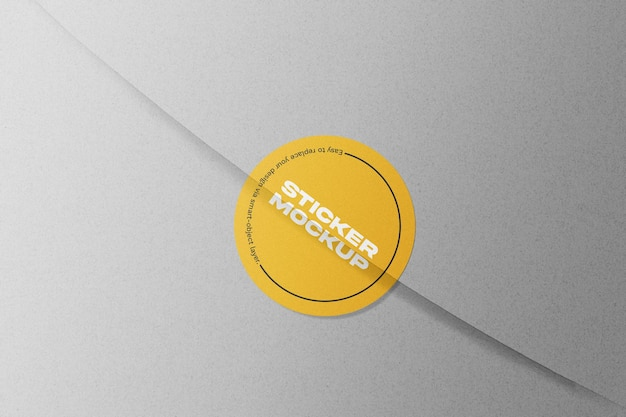 Maquette D'autocollant Rond Orange PSD Premium