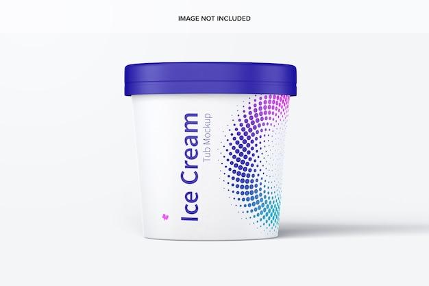 Maquette de bac de papier de crème glacée de 500 ml