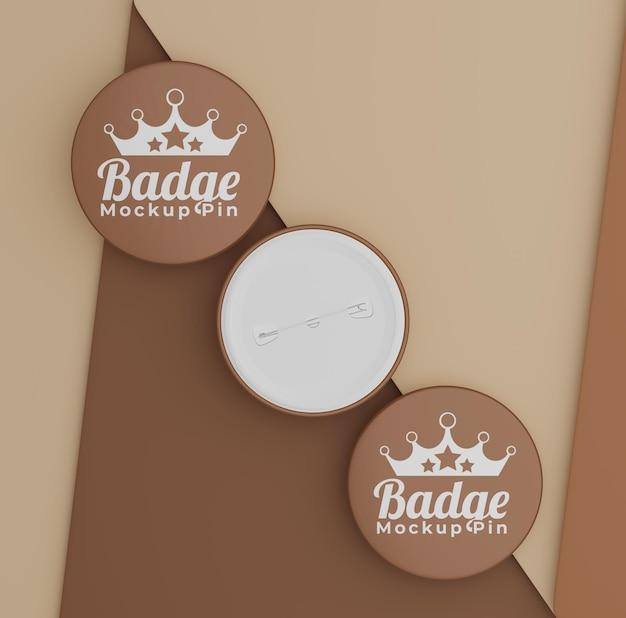 Maquette de badge simple avec logo