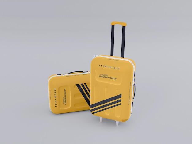 Maquette de bagage rigide