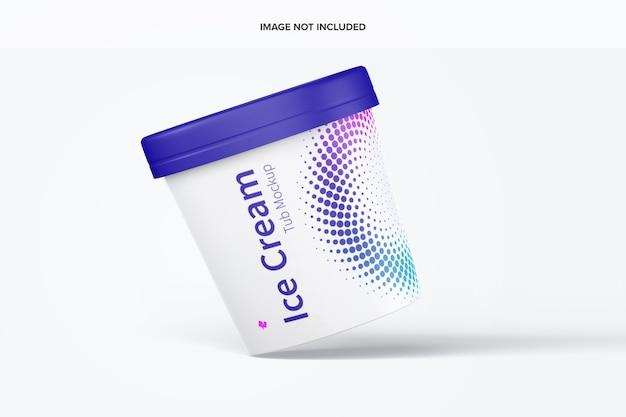 Maquette de baignoire en papier de crème glacée de 500 ml flottante