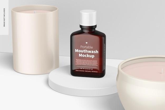 Maquette de bain de bouche portable