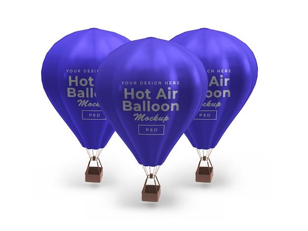 Maquette de ballon à air chaud isolée