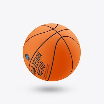 Maquette de ballon de basket isolée