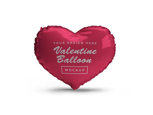 Maquette de ballon coeur saint-valentin isolée