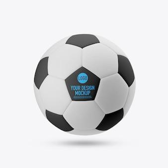 Maquette de ballon de football isolée