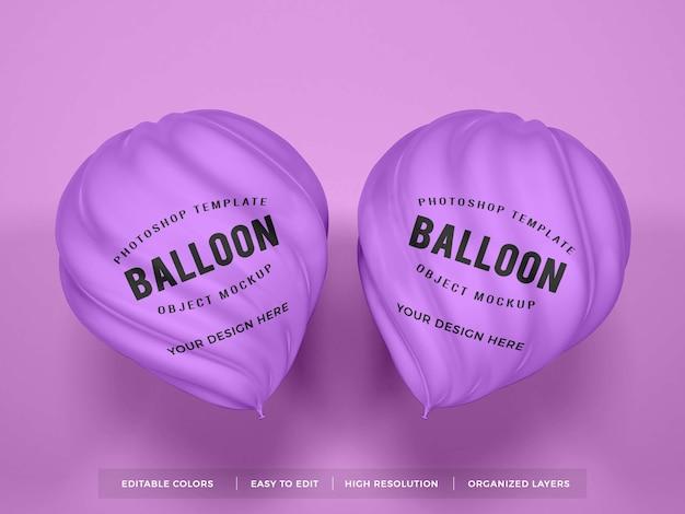 Maquette De Ballon En Forme De Spirale Réaliste PSD Premium