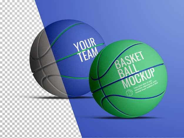 Maquette de ballons de basket isolée