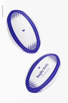 Maquette de ballons de rugby, flottant