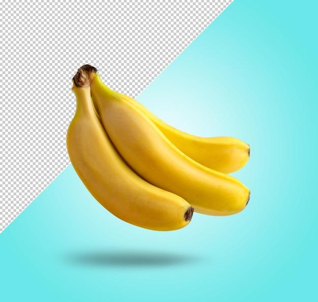 La maquette de banane lévite avec un arrière-plan modifiable
